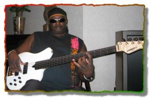 Alvin Ewen, bassist for Steel Pulse, one of the best reggae acts to come out of England, plays a Farnell EXP-5
